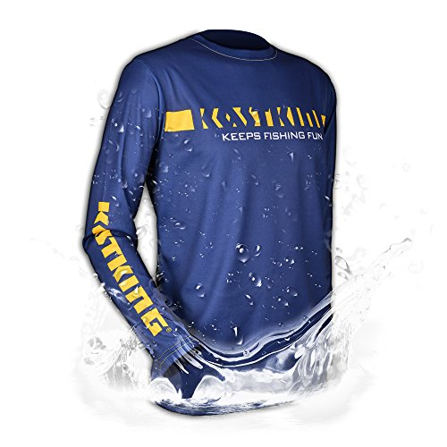 KastKing Long Sleeve Tee Shirt Moisture Wicking Fishing & Sports 100% Polyester for Quick Drying