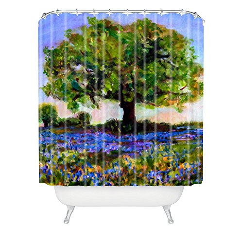 Deny Designs Ginette Fine Art Texas Hill Country Bluebonnets Shower Curtain front-341969