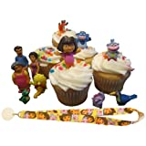 Dora Explorer Family Friends Birthday Cake Cupcake Toppers Decorations Favors  11 Figures Dora Lanyard
