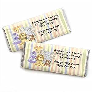 zoo crew wrapper personalized candy bar wrapper baby