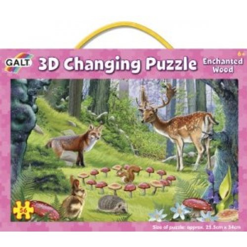 Galt Toys Inc Enchanted Wood 3D Changing Puzzle - 1