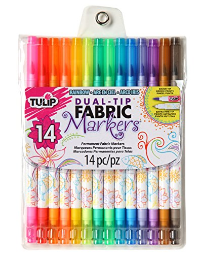 Review Of Tulip Dual-Tip Fabric Marker, 14-Pack