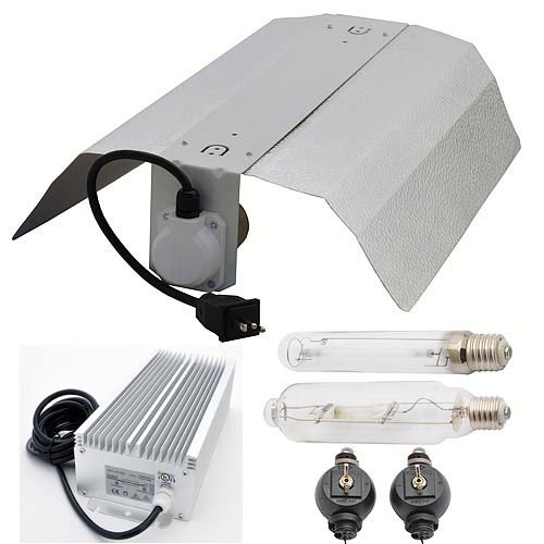 GYO Supplies GYO2004 4-Piece 600 Watt Hydroponic Reflector Grow Light Set
