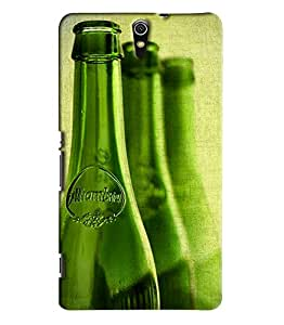 Blue Throat Beer Bottles Pattern Printed Designer Back Cover For Sony Xperia C5
