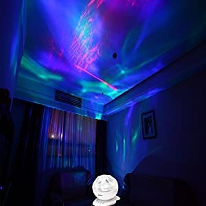 [Upgraded Version w/ Remote Controller] SOAIY® Color Changing Led Night Light Lamp & Realistic Aurora Star Borealis Projector, 4 Timer Optional, 3 Level Brightness, as Sleep Aid/Decorative/Mood Light from SOAIY
