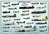World War II Aircraft Poster 39 x 27in