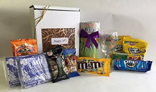 Happy 70th Birthday Gift Basket Box Delight Someone Special