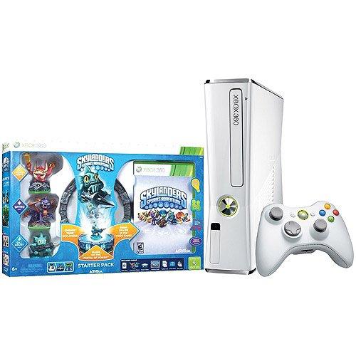 Xbox 360 Slim White 4gb Skylanders Special Edition Bundle (Xbox 360 Skylanders Controller compare prices)