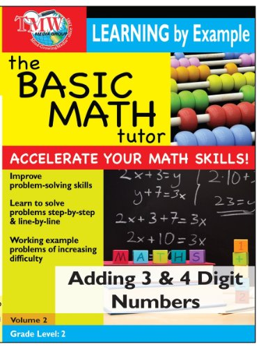 Basic Math Tutor: Adding 3 and 4 Digit Numbers