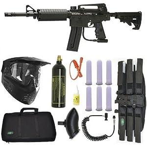 Spyder MRX Magazine Fed Paintball Marker Gun Sniper Package