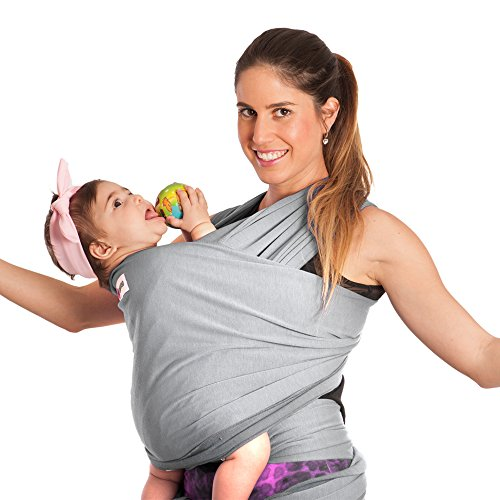 Baby-Wrap-Carrier-Sling-by-TA-BABY-100-Cotton-Gray-EBook