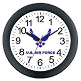 Aqua Force AF16D Air Force Round Wall Clock, 10""