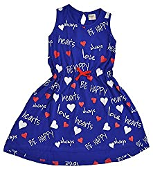 Pinehill Girls' Dress (Navy, 9-10 Years)