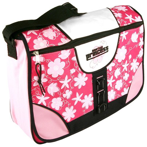 Princess Flower Print Messenger Bag Pink