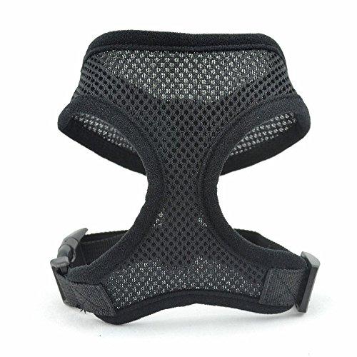 Adjustable Pet Dog Air Mesh Soft Comfort Control Harness Vest-XS#(Black)