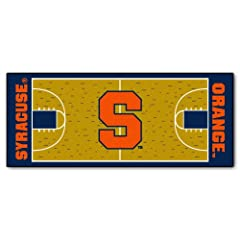 Buy FANMATS NCAA Syracuse University Orange Nylon Face Basketball Court Runner by Fanmats
