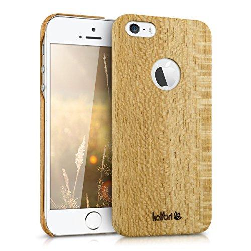 kalibri-Holz-Case-Hlle-fr-Apple-iPhone-SE-5-5S-Handy-Cover-Schutzhlle-aus-Echt-Holz-und-Kunststoff-aus-Seideneichenholz-in-Bambus