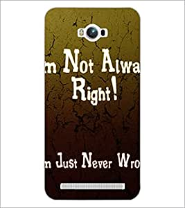 PrintDhaba Quote D-2876 Back Case Cover for ASUS ZENFONE MAX ZC550KL (Multi-Coloured)