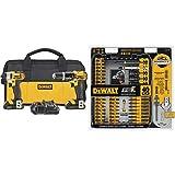 DEWALT 20V MAX Impact Driver and Hammer Drill Combo Kit (DCK285C2) with DEWALT DWA2T40IR IMPACT READY FlexTorq Screw Driving Set, 40-Piece (Tamaño: 2-Tool)