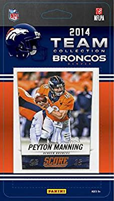 Denver Broncos 2014 Score NFL Football Factory Sealed 11 Card Team Set with Peyton Manning, Wes Welker, DeMarcus Ware Plus