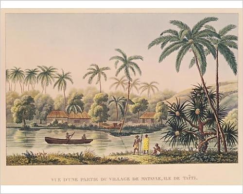 photographic-print-of-village-of-matavae-tahiti-illustration-from-voyage-autour-du-monde-sur-la