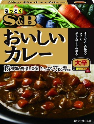 S&B なっとくのおいしいカレー 大辛 180g×6個