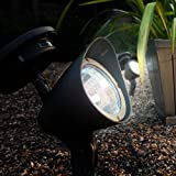 Outdoor Solar Spot with 3 White LEDs Insideby Lights4fun - Solar Lights