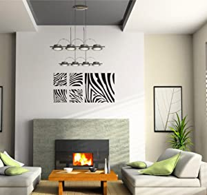Zebra print wall art decal sticker decor mural diy bedroom decor