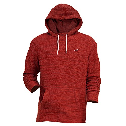 Hollister -  Felpa con cappuccio  - Basic - Maniche lunghe  - Uomo Red Medium