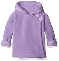 Widgeon Little Girls Polar Tec Fleece Warm Plus Hooded Wrap Jacket with Velcro Close, Lavender, 2