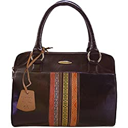 Arpera Women's Handbag (Brown & Black) (C11448)