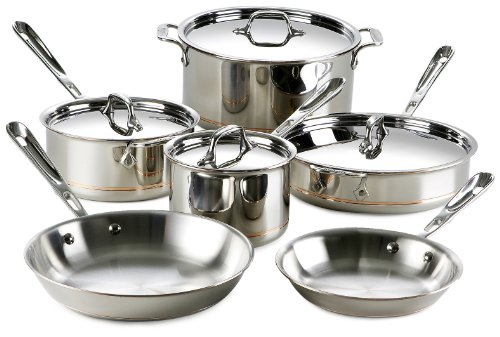 All Clad Copper Core 10-Piece Cookware Set