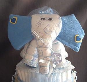 baby shower elephant theme diaper cake decorations jungle
