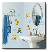 RoomMates Bubble Bath Peel & Stick Wall Decals
