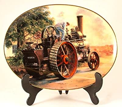 Davenport The Great Days of Steam oval collector plate by Malcolm Root - All Steamed Up - CP819