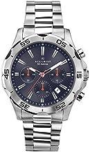 Comprar Reloj para hombre Accurist esfera azul reloj cronógrafo con cierre de plata inoxidable pulsera 7024