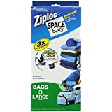Space Bag BRS-5803-6 Dual-Use Vacuum-Seal and Roll Storage Bags, Set of 3, Large