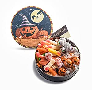 Tasty Halloween Candy Gift Basket Tin, Assorted Candies Lindt-Lindor Truffle Pumpkins, Creepy Peeper,Body Parts Candy,Halloween Candy, Chocolate Eyeballs, Gruesomely Gummy Body Parts, and More!