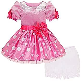 Disney Store Deluxe Minnie Mouse Costume Dress Pink