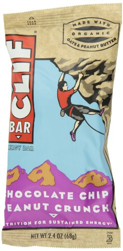 Clif Bar Energy Bar, Chocolate Chip Peanut Crunch, 2.4 Ounce Bar, 12 Count