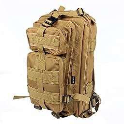 Neewer® 3P Comfortable Waterproof Assault Pack Tactical Backpack Molle Bag (Khaki 20L)