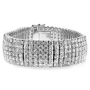 K Design CZ Elegance Formal Bracelet