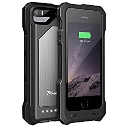 iPhone 6 Battery Case, Trianium iPhone 6 Battery Charging Case (4.7 Inches) [Black/Silver] - 3500mAh Rechargeable Heavy-Duty Protective [Inlaid Metal] iPhone 6 Charger Case / iPhone 6 Extended Backup Battery Pack Cover Case Fits with ANY VERSION of Apple iPhone 6 (a.k.a iPhone 6 Battery Pack / iPhone 6 Power Case / iPhone 6 USB Juice Bank / iPhone 6 Battery Charger)