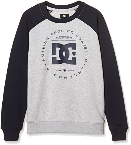 DC Shoes REBUIL CR RAG B B OTLR SEYH-Felpa Bambino    Gris (Light Heather Grey) 10 anni