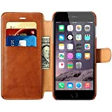 iPhone 6 / 6s Case, Benuo Leather Wallet Case, Ultra Slim Folio Flip Cover Case with MagneticClasp & Stand Feature for iPhone 6 (2014) / iPhone 6s (2015) - (Brown)