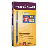 Uni-ball 60026 Deluxe Roller Ball Stick Waterproof Pen Red Ink Micro Dozen
