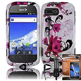 For ZTE Valet Z665C / Z665 C Z 665 C Purple Lily Design HARD Case