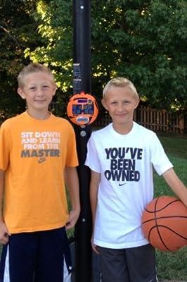 GameDay Basketball Scoreboard for Kids Portable Driveway Basketball Poles