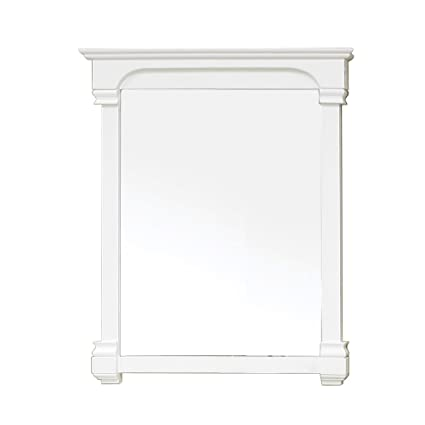 Bellaterra Home 205042-MIRROR-WH 36-Inch Solid Wood Frame Mirror, White