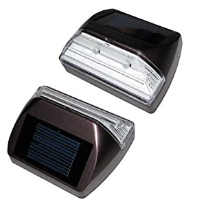 Set of 2 Solar Deck/step Lights, Rectangle, Illuminates up to 8 Hours